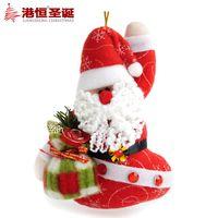 arts crafts dolls - Christmas tree ornaments cm plush cloth art Santa Claus dolls g supplies natal snowflake crafts hanging party supplies
