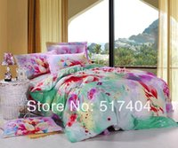 Wholesale cotton bed sheets king size pc bedding set without filler TC cotton king size bedspreads king size clothes floral