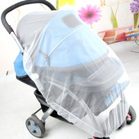 Cheap infant mosquito net for baby stroller crib cot canopy tents beds dome fly insect folding netting mesh child portable safety