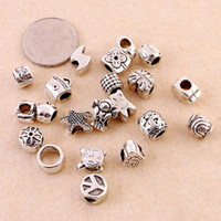 Wholesale 2016 Hot Sale Style Silver Plated And Crystal Loose Beads Charms Fit Pandora Charm European DIY Luxurious Women Jewelry Bracelet Necklace