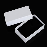 custom made jewelry - 50 a paper made white color can custom gift jewelry box packaging for necklace