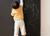 Wholesale Brand new cm x cm Vinyl Chalkboard Wall Stickers Removable Blackboard Decals Great Gift For Kids