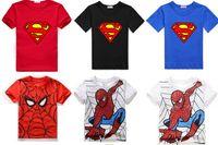 Superman, Batman, teenage mutant ninja turtles, Spiderman ragazzi maglietta manica corta, di estate del ragazzo / figli magliette, O-collo corto T-shirt da DHL