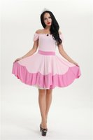 adult princess peach - Princess Peach costume women adult fashion pink sexy halloween costumes carnival party cosplay dress
