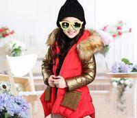 Wholesale Spell Color pocket hooded Down Jacket Children s Down Coat Kids Winter Coat Fashion Warm Coat Girl Outwear
