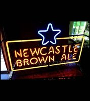 beer glass cleaning - NewCastle Brown Ale Glass Neon Sign quot x quot SUPER CLEAN Beer Avize Neon Nikke Air Jorddan Neon Sign light Sign