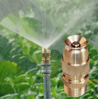 Wholesale 1 quot Brass Adjustable Bullet Nozzle Misting Sprinklers For Watering and Lawn Irrigation Sprayer Nozzle Garden Watering Garden Plants Waterin