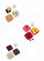 Wholesale Popular Dried Fruit Plates Classical Portable Kitchen Fruit Plates Eco Friendly Plastic Material New Arrivals Hot Sale