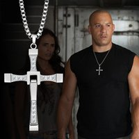 cross necklace crystal - Furious with section Alloy Diamond cross necklace accessories clavicle domineering male and female couple pendant jewelry