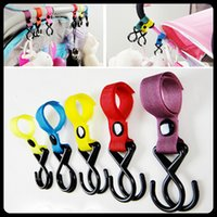 baby hangers lot - 10pcs High quality Plastic Pram Pushchair Hanger Hanging Hooks Multifunction For baby strollers chairs handrails