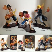ace games - 3pcs set One Piece Attack Styling Luffy Sabo Ace PVC Action Figures Collectible Model Toys