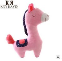 Cheap Lovely Baby Plush Toy 50cm Horse Plush Toys Tell Story Props Animal Doll  Kids Toys  Children Gift TV & Movie Character