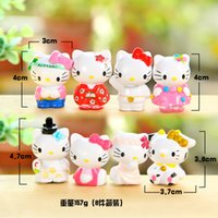 Wholesale 2015 Hot KT Anime Cartoon Hello Kitty Toy Figures Hellokitty Action Models for kids Birthday Gifts Anime club New