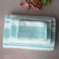 bar process - Foreign trade gift sets of cotton yarn dyed towel towel towel towel bar love bump process three piece