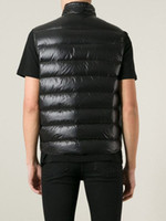 Wholesale Fall Mens zipper cotton vest Male collar fashion casual cotton vest