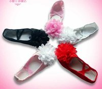 Wholesale 2015 Ballet Dance Shoes with Bowknot for Girls Ladies Kids gymnastics shoes Size Base on the Actual Length