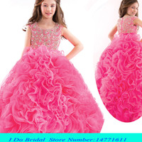 beauty angels girls - 2016 Puffy Angel Luxury Girls Pageant Gowns Beauty Pageant Dresses For Children Kids Ball Gowns Princess Party Dresses Ruffles Cute