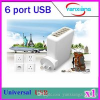 Direct Chargers For Samsung other CHPost 1pcs high performance multi port travel wall charger desktop rapid charging station 4A 6 port usb charger with smart IC ZY-USB-01