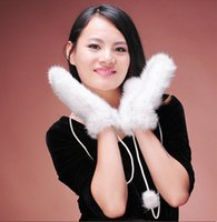 Wholesale 2014 new style fashion winter mink hair mitten for young women gloves made in China