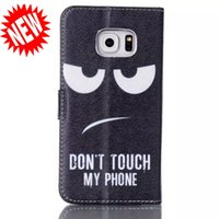For Samsung Plastic For Christmas Eyes Don't Touch My Phone Wallet Leather Pouch TPU case Card Stand Money For Samsung Galaxy S6 Edge S3 S4 S5 NOTE 3 4 Mini i8190 I9190 skin