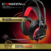 Wholesale canleen Jiahe x500 Headsets game voice headset usb plug with led lights bass headphones