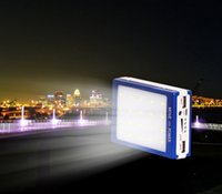 battery backup lighting - 2015 New mAh Dual USB Solar Panel Power Bank pc LED Camp Light External Battery Charger Phone Backup powers