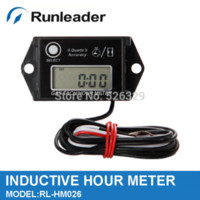 Wholesale pieces Tiny Tach Hour Meter Tachometer For Gasoline Engine Motocross Jet Ski Boat M47397 meters images