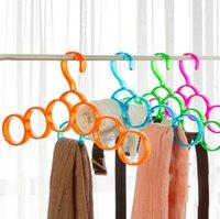 Wholesale Colorful transparent multifunction herringbone tie rack hanger creative Scarves
