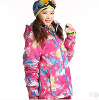 Wholesale new fashion skiing snowboard waterproof thermal outdoor sportswear winter ski jacket women brand Dropshipping