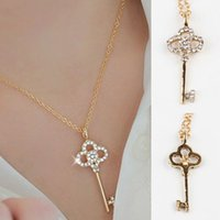 Wholesale New Jewelry Fashion Hollow Key Retro Long Pendant Sweater Chain Necklace Drop Shipping NL GD