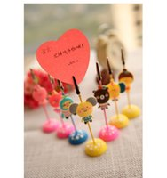 Wholesale 2015 New and hot Cute Kawaii Cartoon Romane Silicone Metal Memo Holder Paper Clip for Message Photo