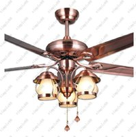Wholesale Fisherman lantern vintage fan lamp Led ceiling Fans light Fan ceiling lamp Restaurant dining room Library hanging light