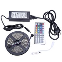 Wholesale 5050 RGB lights Waterproof IP65 M Leds SMD led strips leds M key remote controller V A power supply with EU AU UK US plug