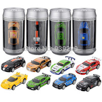 animal cops - High Quality Mini Remote Control RC Racing Kids Children Coke Bullet Can Cop Stunt Toy Car Gift Present A2