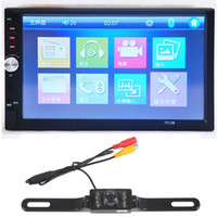 12v cmos Canada - 7 inch HD 1080P Touchscreen MP5 MP4 Player Car FM Radio Receiver Bluetooth Double-DIN + 1 3 Inch color CMOS Camera CMO_20I