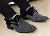 shoes - New fashion lace up Color matching Men suit Dress Shoes Office Men s pointed Leather shoes Male Business Shoes