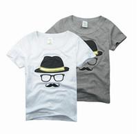 Boy Summer Standard Children Baby Boy's short sleeve t shirt Hello Beard hat glasses T-Shirt kids Boys tops