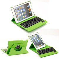 360 keyboard case - 2015 new colors rotating case with wireless bluetooth keyboard for IPad mini