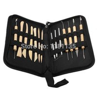 Wholesale Durable New Pottery Polymer Clay Sculpting Tool Set In Zippered Case Pottery Tool