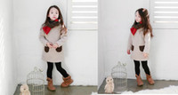 Wholesale kids kid clothing Hot sale Children s clothes south Korean new winter Children s fair maiden wave pocket lambs wool long sle