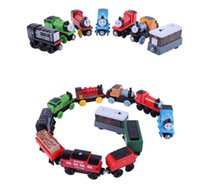 christmas container - Children s magnet toy train Thomas The Train Cartoon Toys Styles Thomas Friends Wooden Train Car Toys Best Christmas Gifts