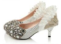 Wholesale 2015 New Fashion Elegant Bridal Shoes Rhinestone Wedding Shoes For Bride Shoes cm High Round Toe Heels Shoes Wedding Shoes In Stock
