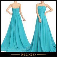 Wholesale Strapless Pleated Criss Cross Light Blue Long Dresses For Bridesmaid Wedding Party Super Long Dresses