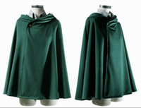 Wholesale Stylish Attack On Titan Cosplay Cape Cloak Halloween Masquerade Costume Shingeki No Kyojin Coat Clothes EKG