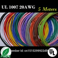 awg stranded wire - High Quality AWG M FT Flexible Stranded Colors UL Diameter mm Electronic Wire Conductor To DIY