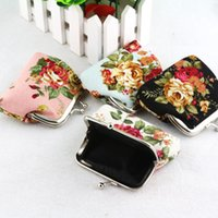 best gifts organizer - New Vintage flower canvas bag Coin keys wallet keychain Purse change pocket holder organize cosmetic bag Best gift