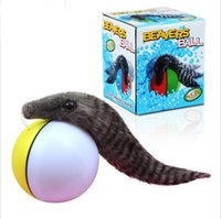 Wholesale Electric water nutria beaver balls amphibious Swim head the ball Children s toys sound Toy animals
