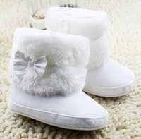 age boots - Baby Children Cotton Boots Winter Hot Snow white Girls First Walker Shoes With Fur Baby Velvet Shoes Fit Age Pair T1716