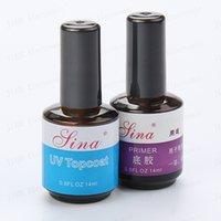 adhesive primer - New Primer UV Gel Set Adhesive Nail Gel Nail Art Accessories Primer Base amp Top Coat Gel nails Set ml