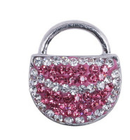antique handbag - top pink handbag accessories antique silver mm Soft bag alloy DIY crystal rhinestone alloy snap Noosa style chunks press button jewelry